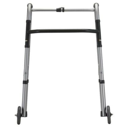 """Nova Standard Folding Walker w/5"""" Wheels - Adult"""