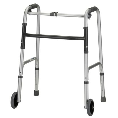"""Nova Standard Folding Walker w/5"""" Wheels - Youth"""