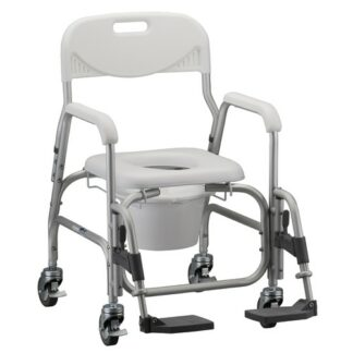 Nova Deluxe Shower Chair and Commode with Padded Seat & Swing Away Footrests