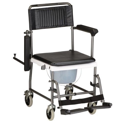 Nova Drop-Arm Transport Chair and Commode