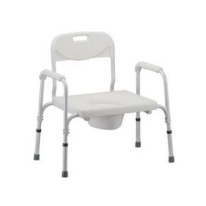 Nova Bariatric Commode with Back & Extra Wide Seat