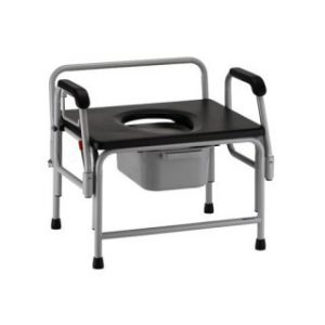 Nova Bariatric Drop-Arm Commode - 800LB Capacity