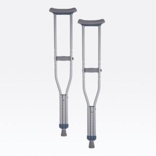 Nova Crutch Aluminum Push-Button