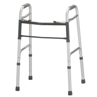 Nova Dual Button Release Folding Walker - Adult