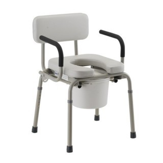 Nova Padded Drop-Arm Commode