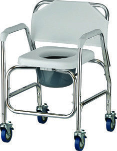 Nova Shower Chair and Commode with Wheels