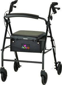 Nova Vibe 6S Steel Rolling Walker - 4 Colors