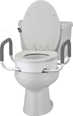 Nova Elongated Toilet Seat Riser With Arms Mccann S Medical