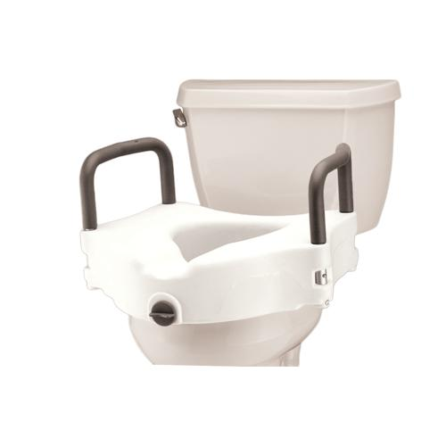 Nova Raised Toilet Seat With Attached Arms Mccann S Medical