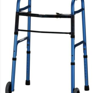 Nova Folding Walker with 5 inch Wheels - 2 Colors