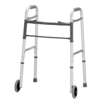 Nova Heavy Duty Folding Walker with 5 inch Wheels