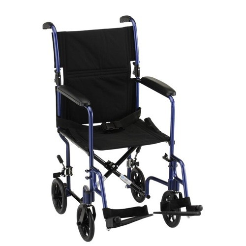 "Nova 17"" Lightweight Transport Chair With Fixed Arms"