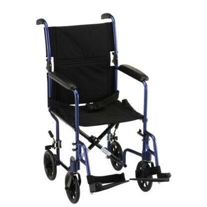 "Nova 19"" Lightweight Transport Chair With Fixed Arms"