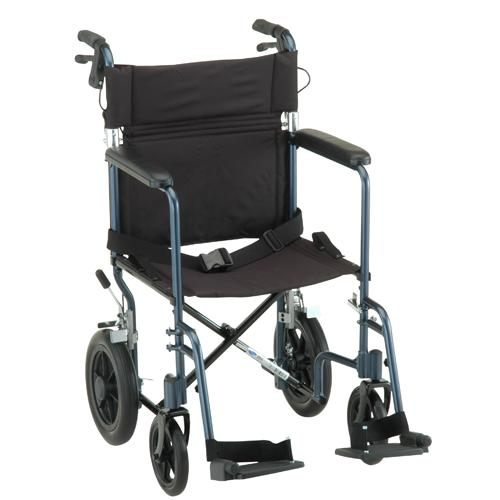 "Nova 20"" Lightweight Transport Chair With 12"" Rear Wheels"