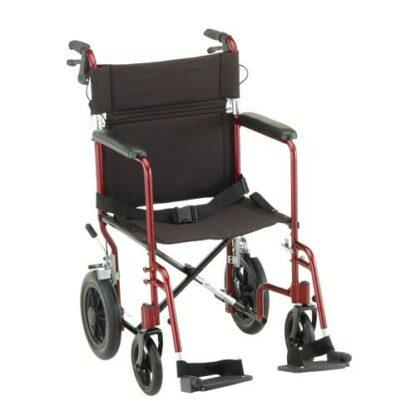"""Nova 20"""" Lightweight Transport Chair With 12"""" Rear Wheels"""