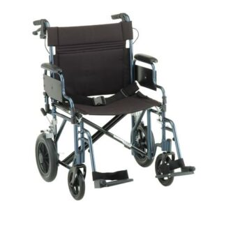 "Nova 22"" Heavy Duty Transport Chair With 12"" Rear Wheels"