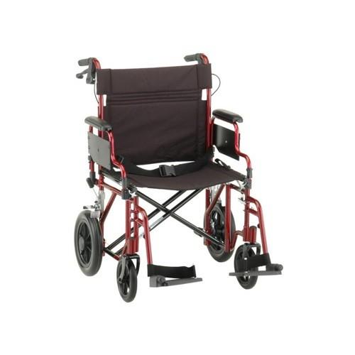 """Nova 22"""" Heavy Duty Transport Chair With 12"""" Rear Wheels"""