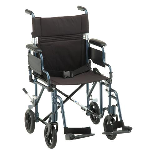 "Nova 19"" Lightweight Transport Chair with Detachable Armrests"